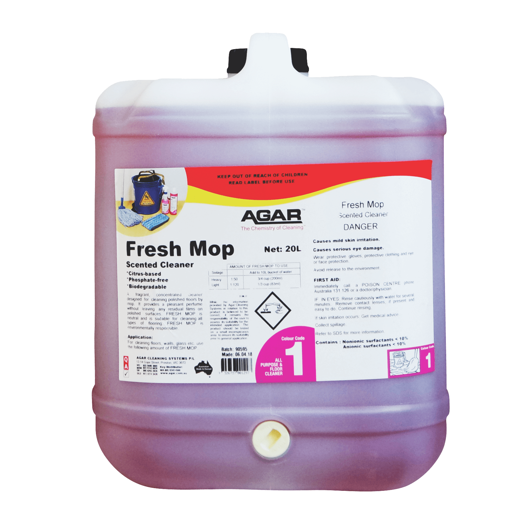 Agar Fresh Mop - Scented Cleaner 20L