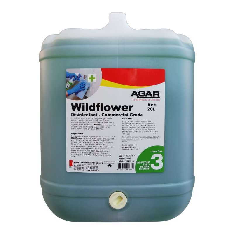 Agar Wildflower - Commercial Grade Disinfectant 20L