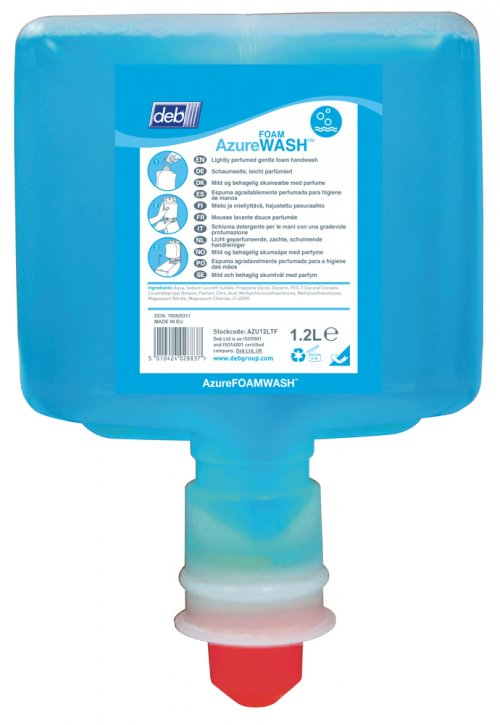 Azure Foam Wash 1.2L Touch Free 3 Pods/ctn