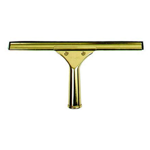 Brass Complete Squeegee With Channels (18in)