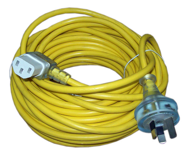 CLEANSTAR 18m 3-core IEC Yellow Lead