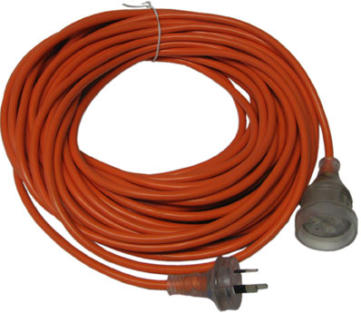CLEANSTAR Extension Lead 30m, 15amp, 10amp Plug & Socket