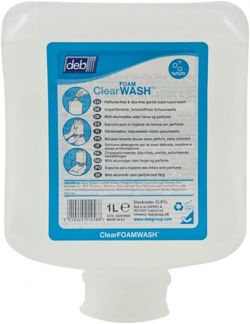 CLEAR FOAM WASH 1L 6POD/CTN