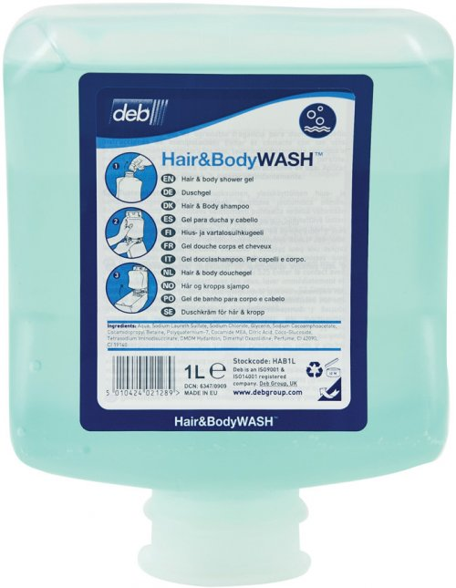 DEB HAIR & BODY WASH 1L 6PODS/CTN