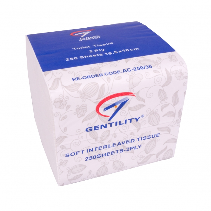 Gentility Interleaved Toilet Tissue AC-250/36