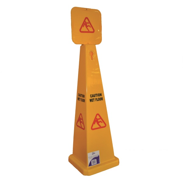 LARGE PYRAMID CAUTION WET FLOOR SIGN