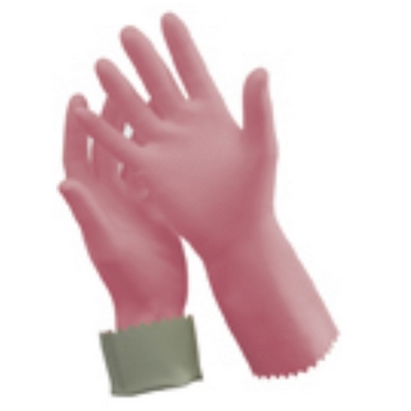 SILVER LINED RUBBER GLOVES (SIZE 8)